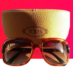 SUMMER SALE!  TOD'S sunglasses/leather case